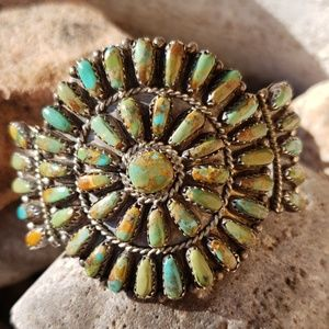 Vintage Turquoise Sterling Silver Native American